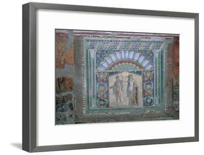 Roman mosaic of Neptune and Amphitrite, 1st century. Artist: Unknown-Unknown-Framed Giclee Print