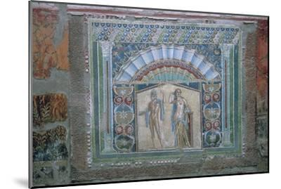 Roman mosaic of Neptune and Amphitrite, 1st century. Artist: Unknown-Unknown-Mounted Giclee Print