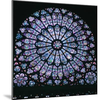 Rose window in Notre Dame, 14th century. Artist: Unknown-Unknown-Mounted Giclee Print