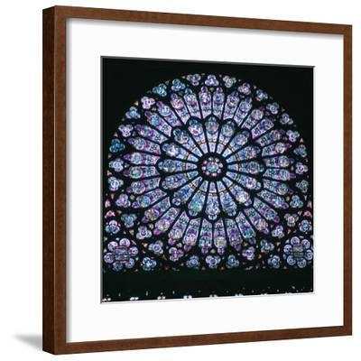 Rose window in Notre Dame, 14th century. Artist: Unknown-Unknown-Framed Giclee Print