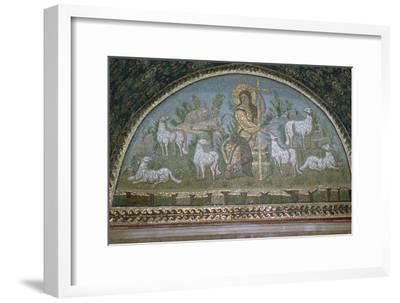 Mosaic of Christ the Good Shepherd, 5th century BC.. Artist: Unknown-Unknown-Framed Giclee Print