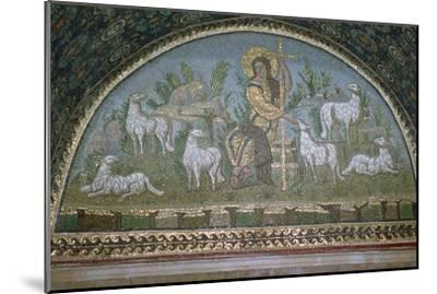 Mosaic of Christ the Good Shepherd, 5th century BC.. Artist: Unknown-Unknown-Mounted Giclee Print