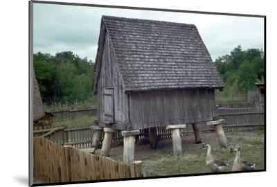 Reconstruction of a Celtic iron-age barn. Artist: Unknown-Unknown-Mounted Photographic Print