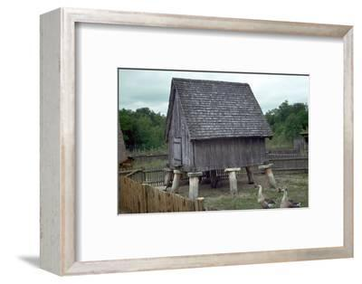 Reconstruction of a Celtic iron-age barn. Artist: Unknown-Unknown-Framed Photographic Print