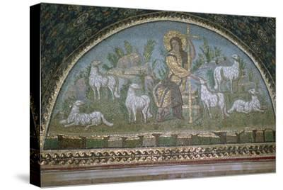 Mosaic of Christ the Good Shepherd, 5th century BC.. Artist: Unknown-Unknown-Stretched Canvas Print