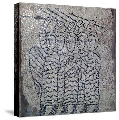 Mosaic of Frankish soldiers of the fourth crusade, 13th century. Artist: Unknown-Unknown-Stretched Canvas Print