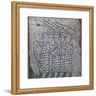 Mosaic of Frankish soldiers of the fourth crusade, 13th century. Artist: Unknown-Unknown-Framed Giclee Print