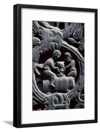 Detail of the west doorway of St Denis, 12th century. Artist: Unknown-Unknown-Framed Giclee Print
