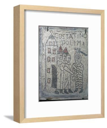 Depiction of the sack of Constantinople in the Fourth Crusade, 13th century. Artist: Unknown-Unknown-Framed Giclee Print