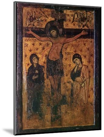 Byzantine icon of the Crucifixion. Artist: Unknown-Unknown-Mounted Giclee Print