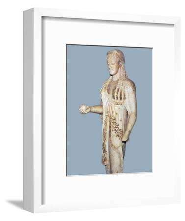 Greek statue of a Kore from the Acropolis, 5th century BC. Artist: Unknown-Unknown-Framed Giclee Print