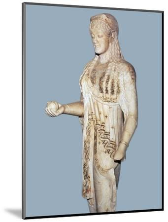 Greek statue of a Kore from the Acropolis, 5th century BC. Artist: Unknown-Unknown-Mounted Giclee Print