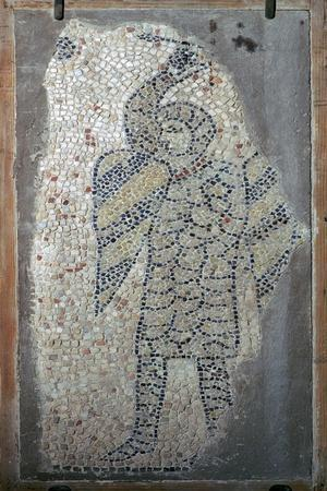 Mosaic of a crusader from the fourth Crusade, 13th century. Artist: Unknown-Unknown-Framed Giclee Print