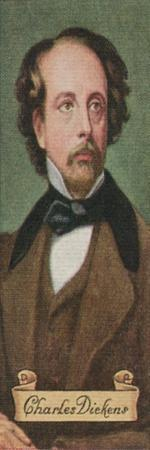 Charles Dickens, taken from a series of cigarette cards, 1935. Artist: Unknown-Unknown-Stretched Canvas Print