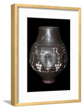 Roman vase inscribed 'Utere Felix', 3rd century. Artist: Unknown-Unknown-Framed Giclee Print