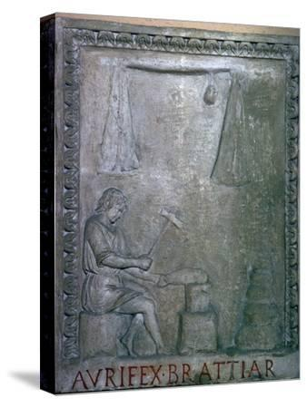 Roman smith at work, 2nd century. Artist: Unknown-Unknown-Stretched Canvas Print