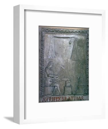 Roman smith at work, 2nd century. Artist: Unknown-Unknown-Framed Giclee Print