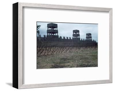 Reconstruction of Roman siege fortifications. Artist: Unknown-Unknown-Framed Photographic Print