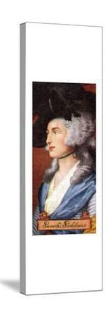 Sarah Siddons, taken from a series of cigarette cards, 1935. Artist: Unknown-Unknown-Stretched Canvas Print