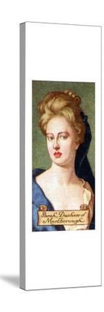 Sarah, Duchess of Marlborough, taken from a series of cigarette cards, 1935. Artist: Unknown-Unknown-Stretched Canvas Print