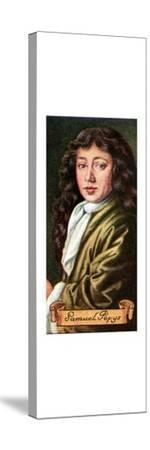 Samuel Pepys, taken from a series of cigarette cards, 1935. Artist: Unknown-Unknown-Stretched Canvas Print