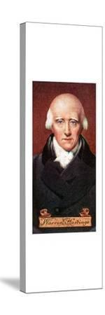 Warren Hastings, taken from a series of cigarette cards, 1935. Artist: Unknown-Unknown-Stretched Canvas Print