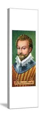 Sir Francis Drake, taken from a series of cigarette cards, 1935. Artist: Unknown-Unknown-Stretched Canvas Print