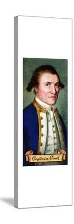 Captain James Cook, taken from a series of cigarette cards, 1935. Artist: Unknown-Unknown-Stretched Canvas Print