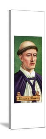 Thomas a Becket, taken from a series of cigarette cards, 1935. Artist: Unknown-Unknown-Stretched Canvas Print