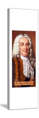 Sir Robert Walpole, taken from a series of cigarette cards, 1935. Artist: Unknown-Unknown-Stretched Canvas Print