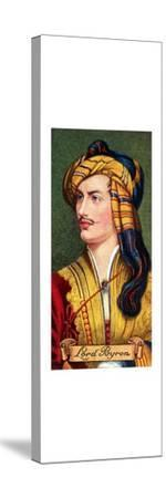 Lord Byron, taken from a series of cigarette cards, 1935. Artist: Unknown-Unknown-Stretched Canvas Print