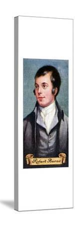Robert Burns, taken from a series of cigarette cards, 1935. Artist: Unknown-Unknown-Stretched Canvas Print