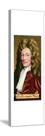 Sir Christopher Wren, taken from a series of cigarette cards, 1935. Artist: Unknown-Unknown-Stretched Canvas Print