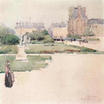 'The Tuileries Gardens', 1915-Eugene Bejot-Framed Giclee Print