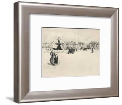 'Place de la Concorde', 1915-Eugene Bejot-Framed Giclee Print