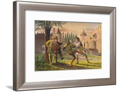 'Sebastian: Why! There's for thee! And there! And there!', c1875-Robert Charles Dudley-Framed Giclee Print