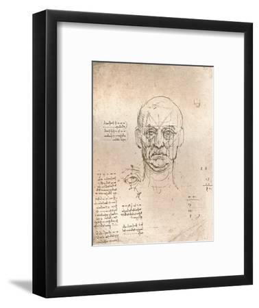 Drawing illustrating the theory of the proportions in the human figure, c1472-c1519 (1883)-Leonardo da Vinci-Framed Giclee Print