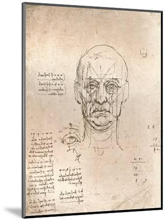 Drawing illustrating the theory of the proportions in the human figure, c1472-c1519 (1883)-Leonardo da Vinci-Mounted Giclee Print
