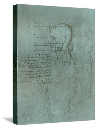 Drawing illustrating the theory of the proportions of the human figure, c1472-c1519 (1883)-Leonardo da Vinci-Stretched Canvas Print