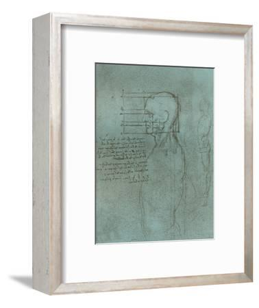 Drawing illustrating the theory of the proportions of the human figure, c1472-c1519 (1883)-Leonardo da Vinci-Framed Giclee Print