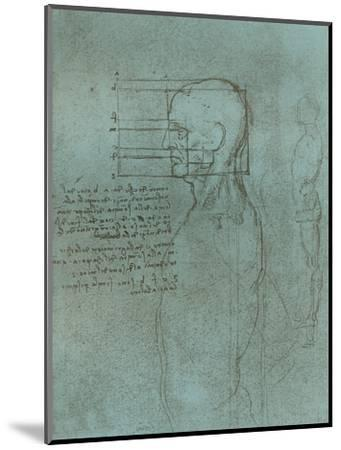 Drawing illustrating the theory of the proportions of the human figure, c1472-c1519 (1883)-Leonardo da Vinci-Mounted Giclee Print
