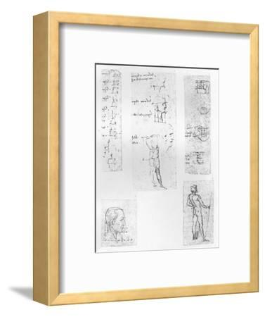 Five drawings illustrating the theory of the proportions of the human figure, c1472-c1519 (1883)-Leonardo da Vinci-Framed Giclee Print