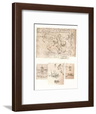 Four drawings of allegorical representations, c1472-c1519 (1883)-Leonardo da Vinci-Framed Giclee Print