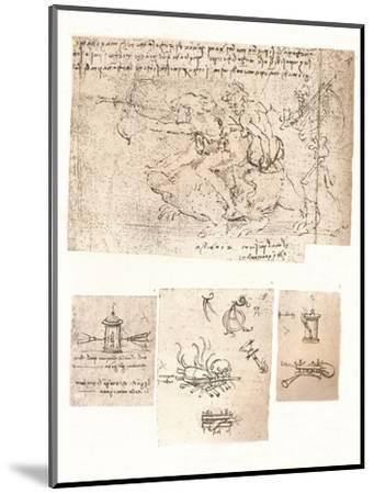 Four drawings of allegorical representations, c1472-c1519 (1883)-Leonardo da Vinci-Mounted Giclee Print