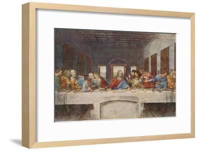 'The Last Supper', 1494-1498-Leonardo da Vinci-Framed Premium Giclee Print