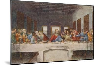 'The Last Supper', 1494-1498-Leonardo da Vinci-Mounted Premium Giclee Print