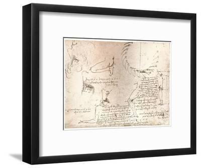 Sketches illustrating the theory of the proportions of the human figure, c1472-c1519 (1883)-Leonardo da Vinci-Framed Giclee Print