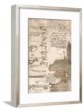 Drawing of musical instruments and other objects, c1472-c1519 (1883)-Leonardo da Vinci-Framed Giclee Print