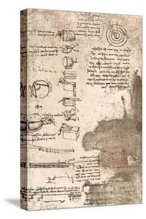 Drawing of musical instruments and other objects, c1472-c1519 (1883)-Leonardo da Vinci-Stretched Canvas Print