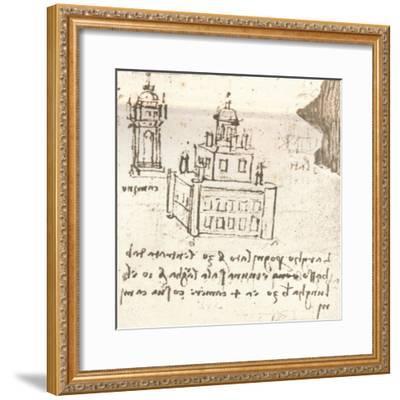 Drawing of projects for castles and villas, c1472-c1519 (1883)-Leonardo da Vinci-Framed Giclee Print